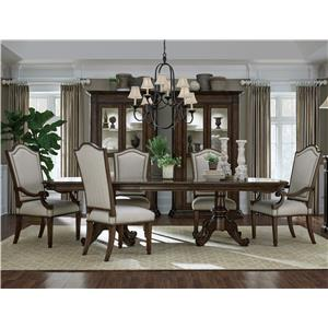 A.R.T. Furniture Inc Chateaux 7-Piece Double Pedestal Table Set