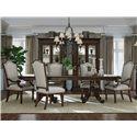 A.R.T. Furniture Inc Chateaux 7-Piece Double Pedestal Table Set - Item Number: 213221-1812+2x207+4x206