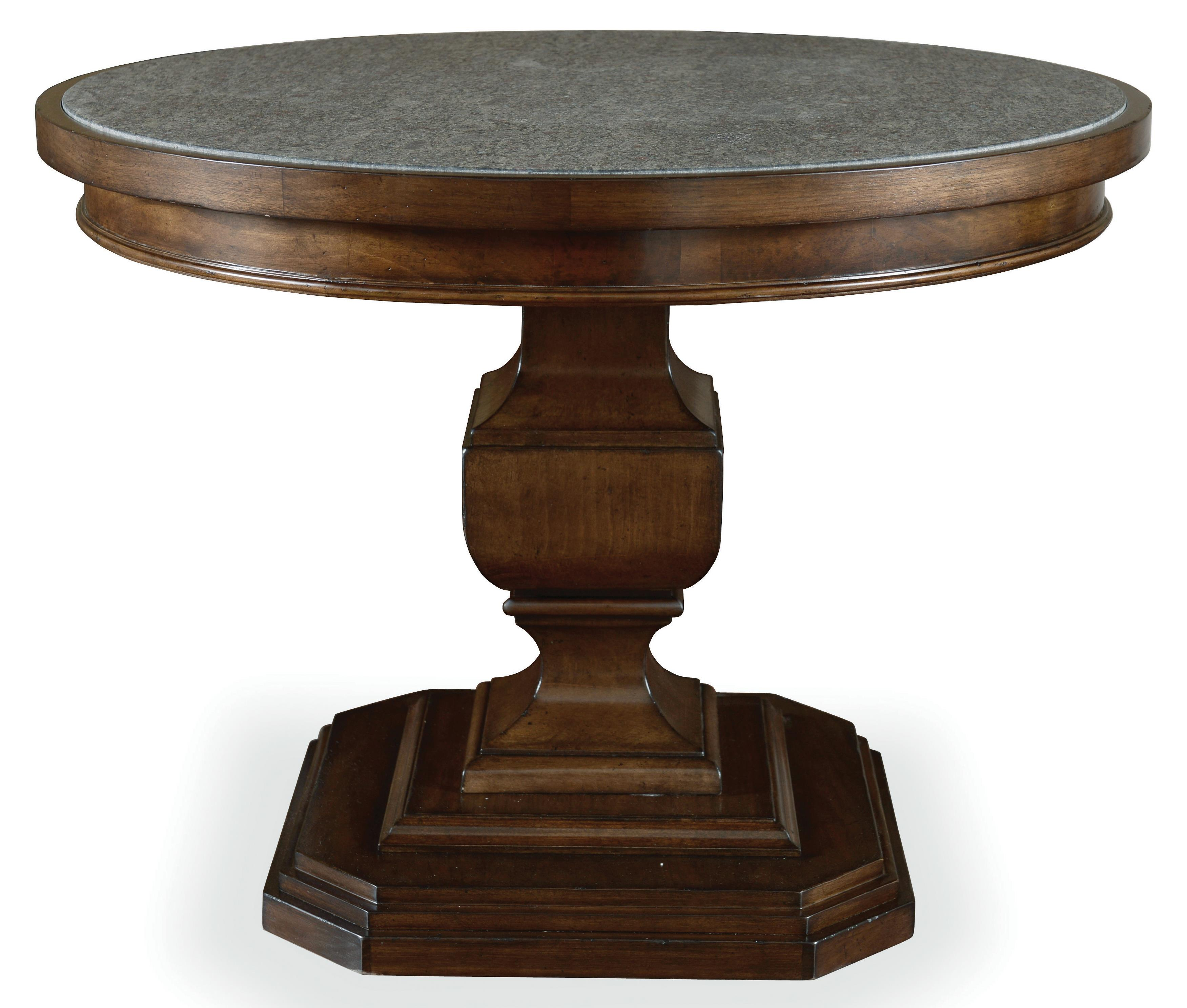 Chateaux Adjustable Height End Table with Acid-Washed Blue Granite Top