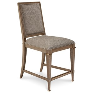 Bleecker Upholstered Back Counter Stool