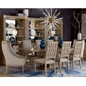 A.R.T. Furniture Inc Cityscapes 9-Piece Bedford Rectangular Dining Table Set - Item Number: 232221-2323+2x232200+6x232203