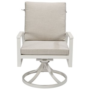 Claidon Cushion Swivel Dining Rocker
