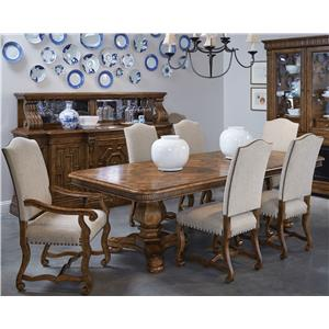 A.R.T. Furniture Inc Collection One 7-Piece Harvest Dining Table Set