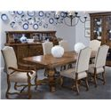 A.R.T. Furniture Inc Collection One 7-Piece Harvest Dining Table Set - Item Number: 217221-2610+2x217207+4x217206