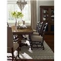Belfort Signature Belle Haven Harvest Dining Table with Double Pedestal Base & Two Leaves