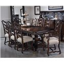 A.R.T. Furniture Inc Collection One 9-Piece Harvest Dining Table Set - Item Number: 217221-2615+2x217203+6x217202