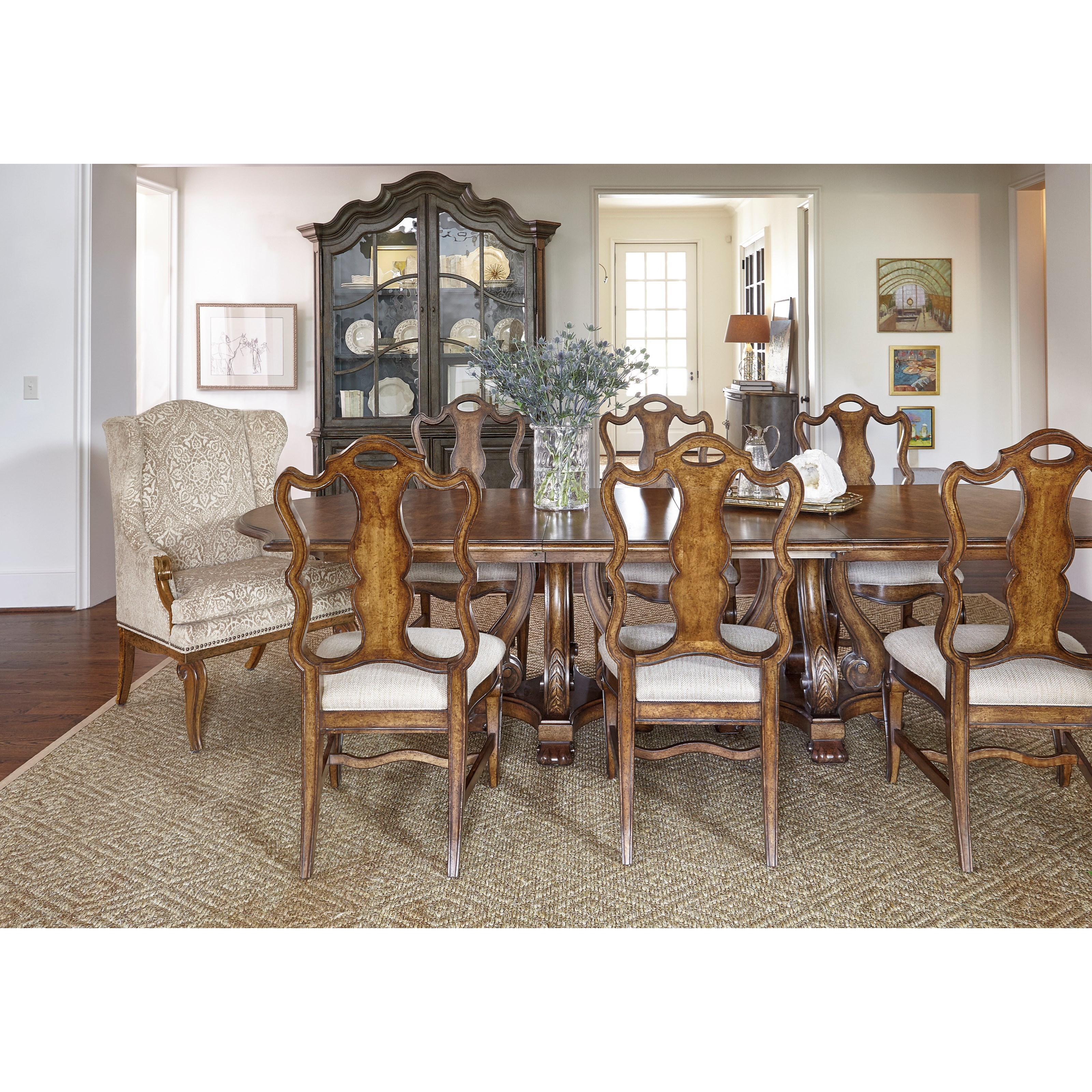 A r t furniture inc continental formal dining room group for A r t dining room furniture
