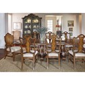 A.R.T. Furniture Inc Continental 9-Piece Double Pedestal Dining Table Set - Item Number: 237221-2624+2x237205+6x237202
