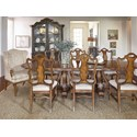 A.R.T. Furniture Inc Continental 9-Piece Double Pedestal Dining Table Set - Item Number: 237221-2624+2x237207+6x237202