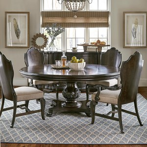 "A.R.T. Furniture Inc Continental 5-Piece 72"" Round Dining Table Set"