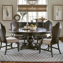 "A.R.T. Furniture Inc Continental 5-Piece 72"" Round Dining Table Set - Item Number: 237225-2615+2x237205+2x237204"