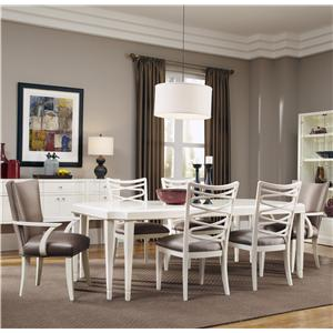 Belfort Signature Magellan 7-Piece Leg Dining Table Set