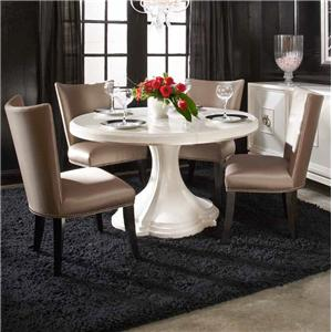 Belfort Signature Magellan 5-Piece Round Table Set
