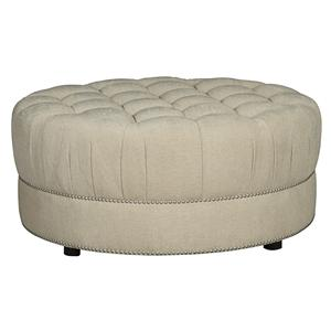 A.R.T. Furniture Inc Cotswold Amanda - Ivory Round Cocktail Ottoman