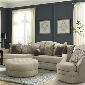 A.R.T. Furniture Inc Cotswold Amanda - Ivory 2-Piece Sectional