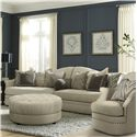 A.R.T. Furniture Inc Cotswold Amanda - Ivory 2-Piece Sofa Sectional with Camel Back - 204509-5008AA+204511