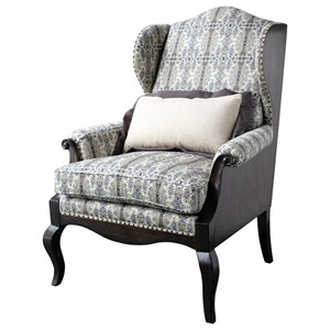 A.R.T. Furniture Inc Empyrean Sky Exposed Wood Wing Chair