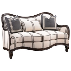 A.R.T. Furniture Inc Empyrean Sky Carved Frame Loveseat