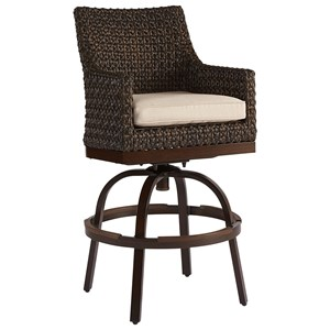 Franklin Wicker Bar Stool