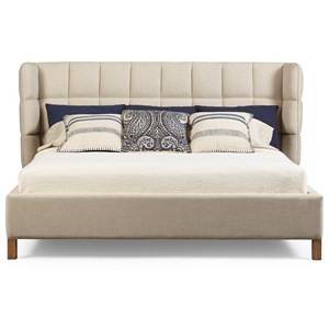 A.R.T. Furniture Inc Epicenters Austin Queen North Loop Upholstered Shelter Bed