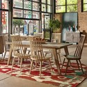 The Great Outdoors Epicenters Austin 7-Piece Rosedale Dining Table Set - Item Number: 235220-2839+2x235202+4x235202-2832