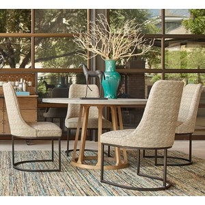 A.R.T. Furniture Inc Epicenters Austin 5-Piece Fountainwood Dining Table Set