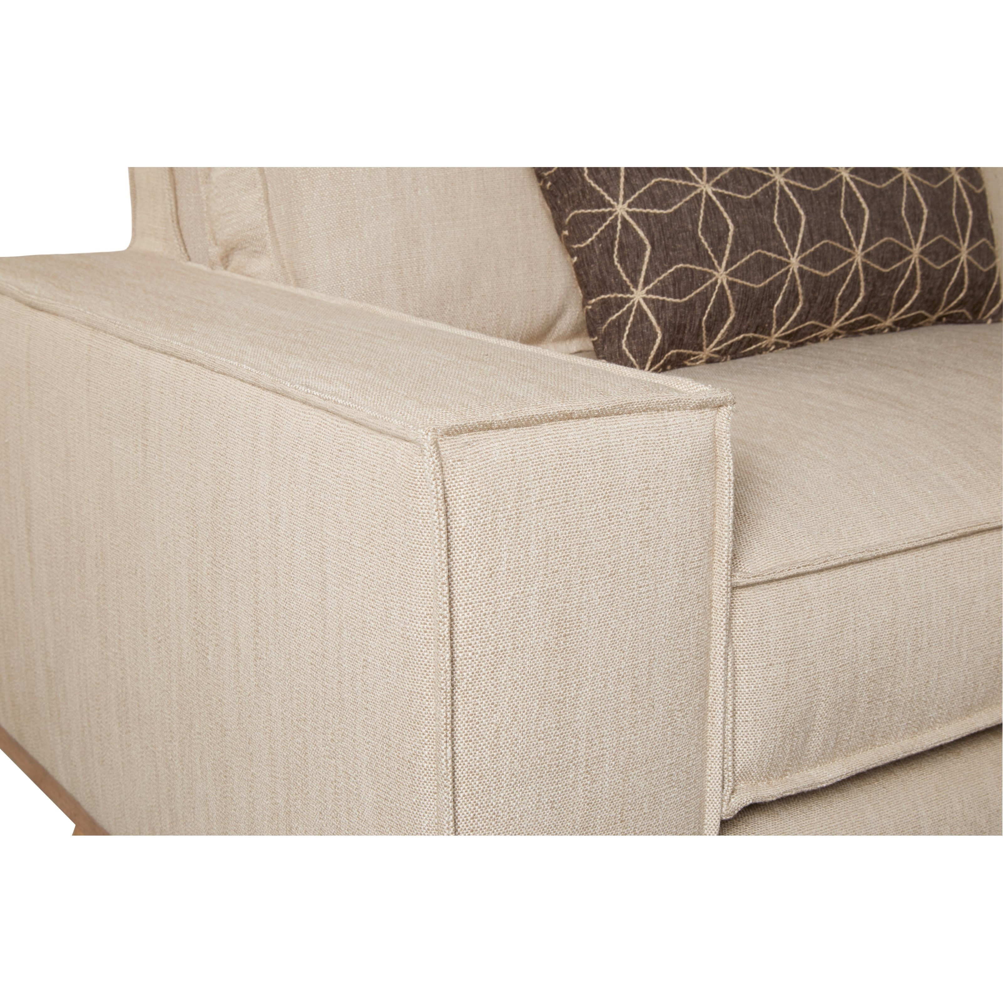 Epicenters Austin Van Zandt Sofa With Linen-Look Fabric