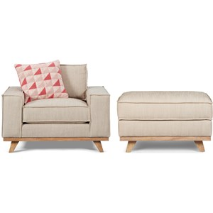 A.R.T. Furniture Inc Epicenters Austin Van Zandt Chair & Ottoman
