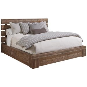 Queen Williamsburg Platform Storage Bed