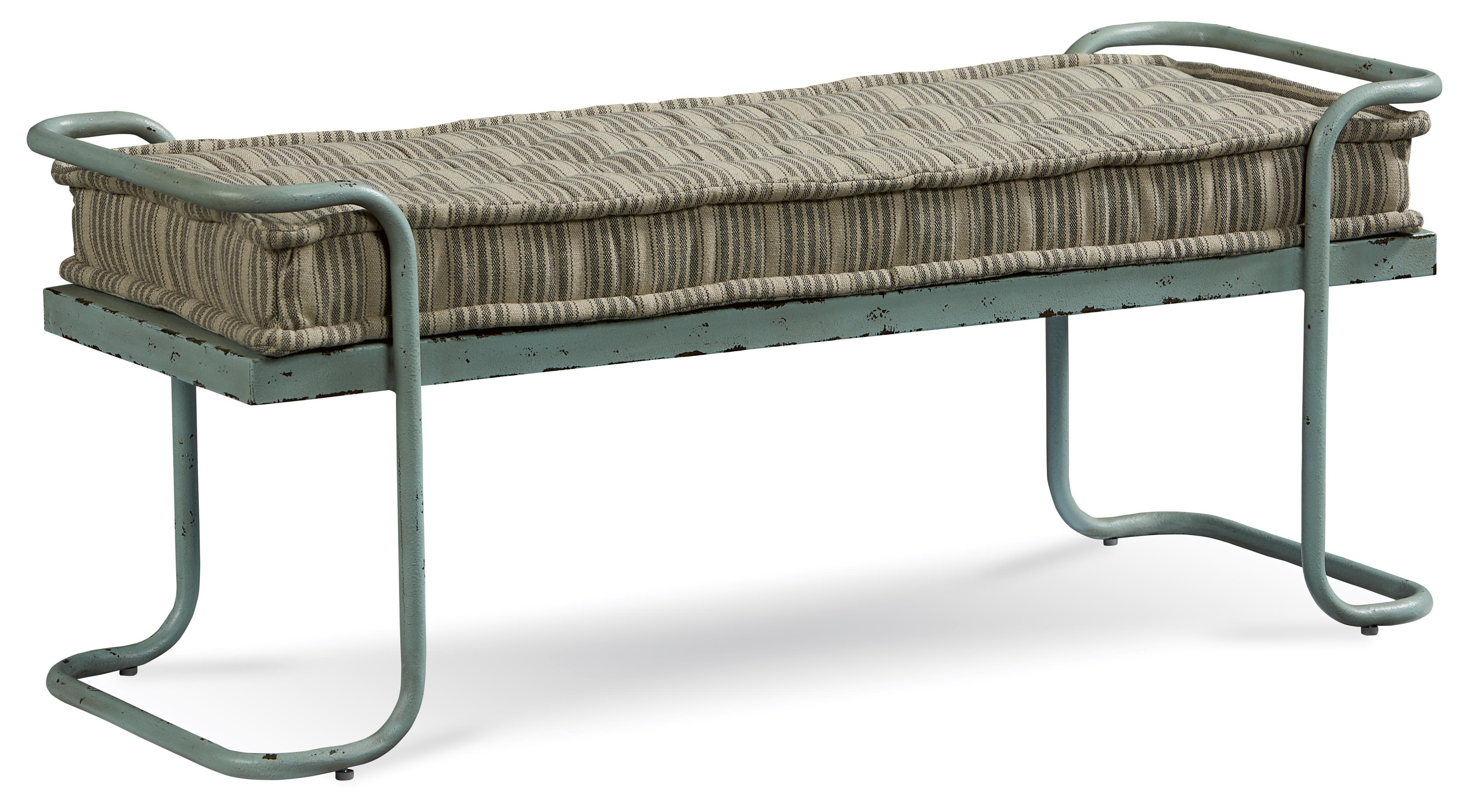 Belfort Signature Urban Treasures Rustic Metal Shaw Bed Bench - Item Number: 223149-2621
