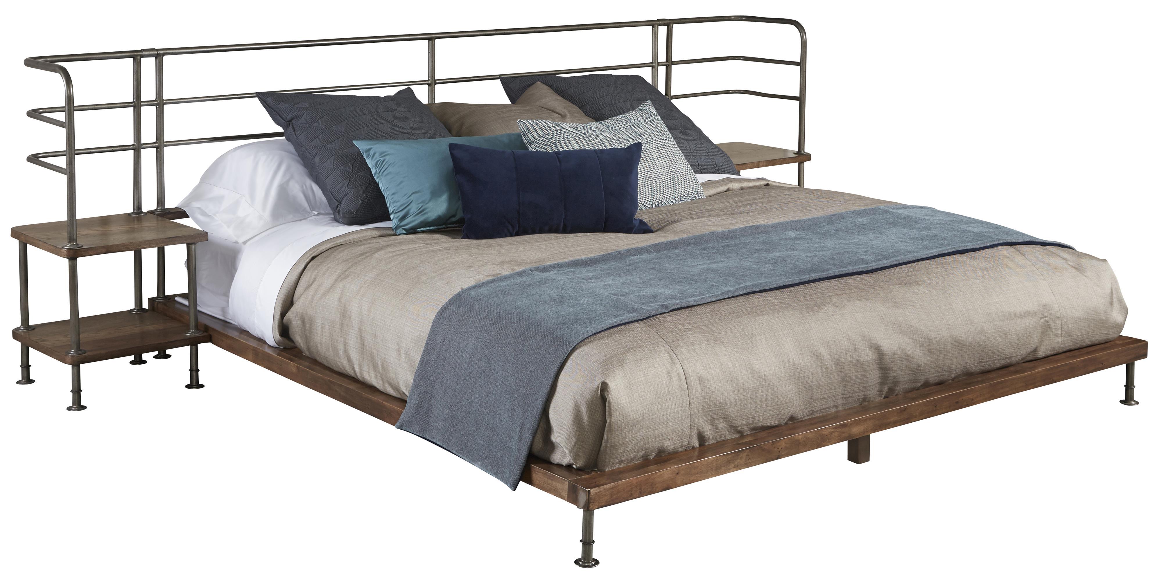 Belfort Signature Urban Treasures Queen Factory Platform Bed w/ 2 Nightstands - Item Number: 223165-2302