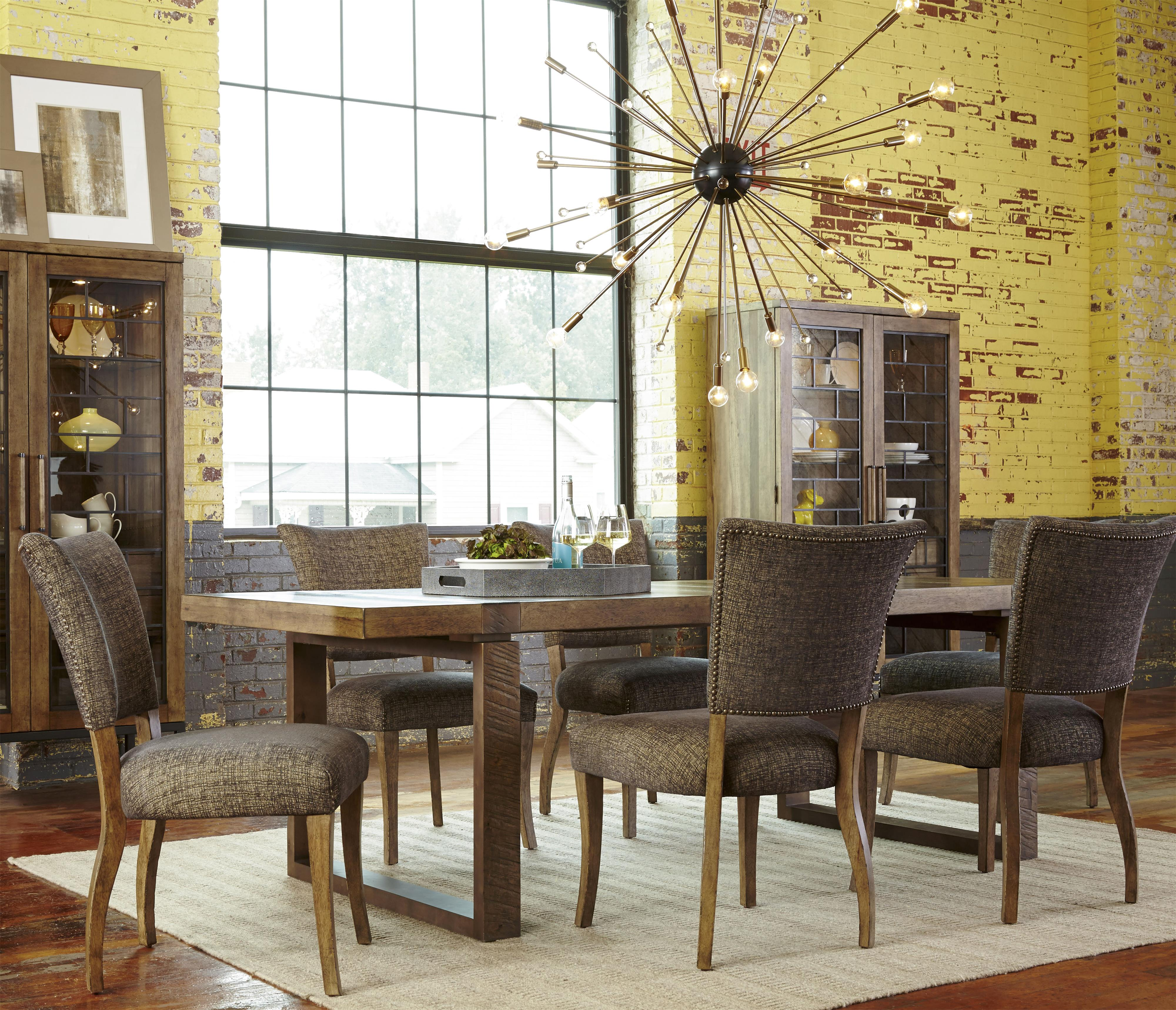 Belfort Signature Urban Treasures 7-Piece Shaw Rectangular Table Set - Item Number: 223220-2302+6x223202