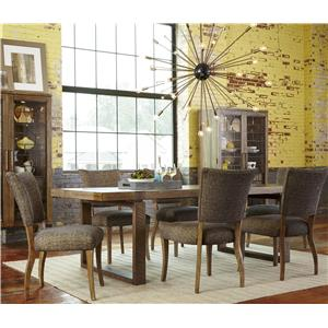 Belfort Signature Urban Treasures 7-Piece Shaw Rectangular Table Set
