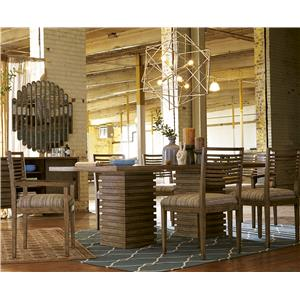 A.R.T. Furniture Inc Epicenters 7-Piece Williamsburg Pedestal Table Set