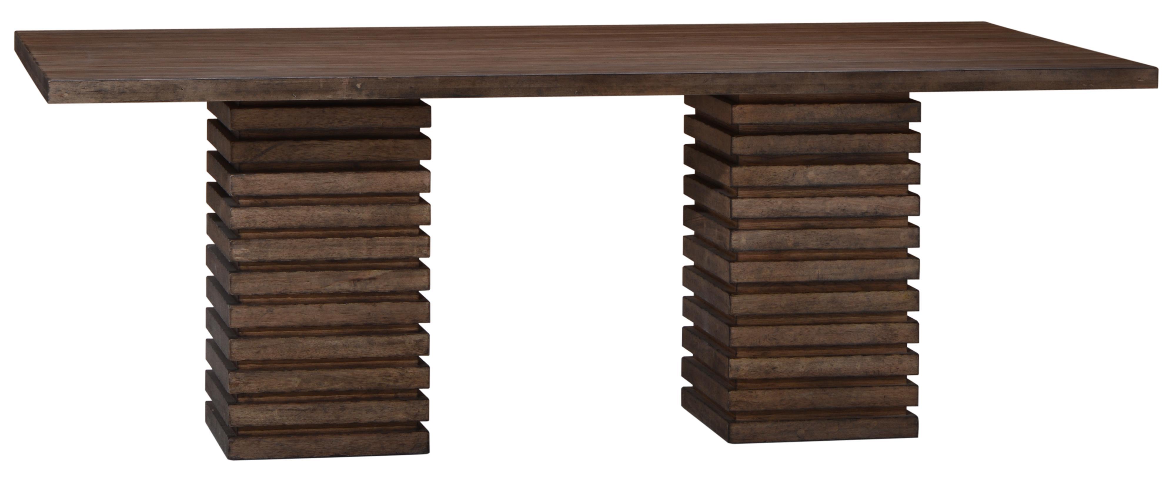 Belfort Signature Urban Treasures Shaw Double Pedestal Dining Table - Item Number: 223221-2302