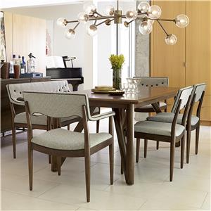 Markor Furniture Epicenters 6-Piece Silver Lake Table Set with Bench