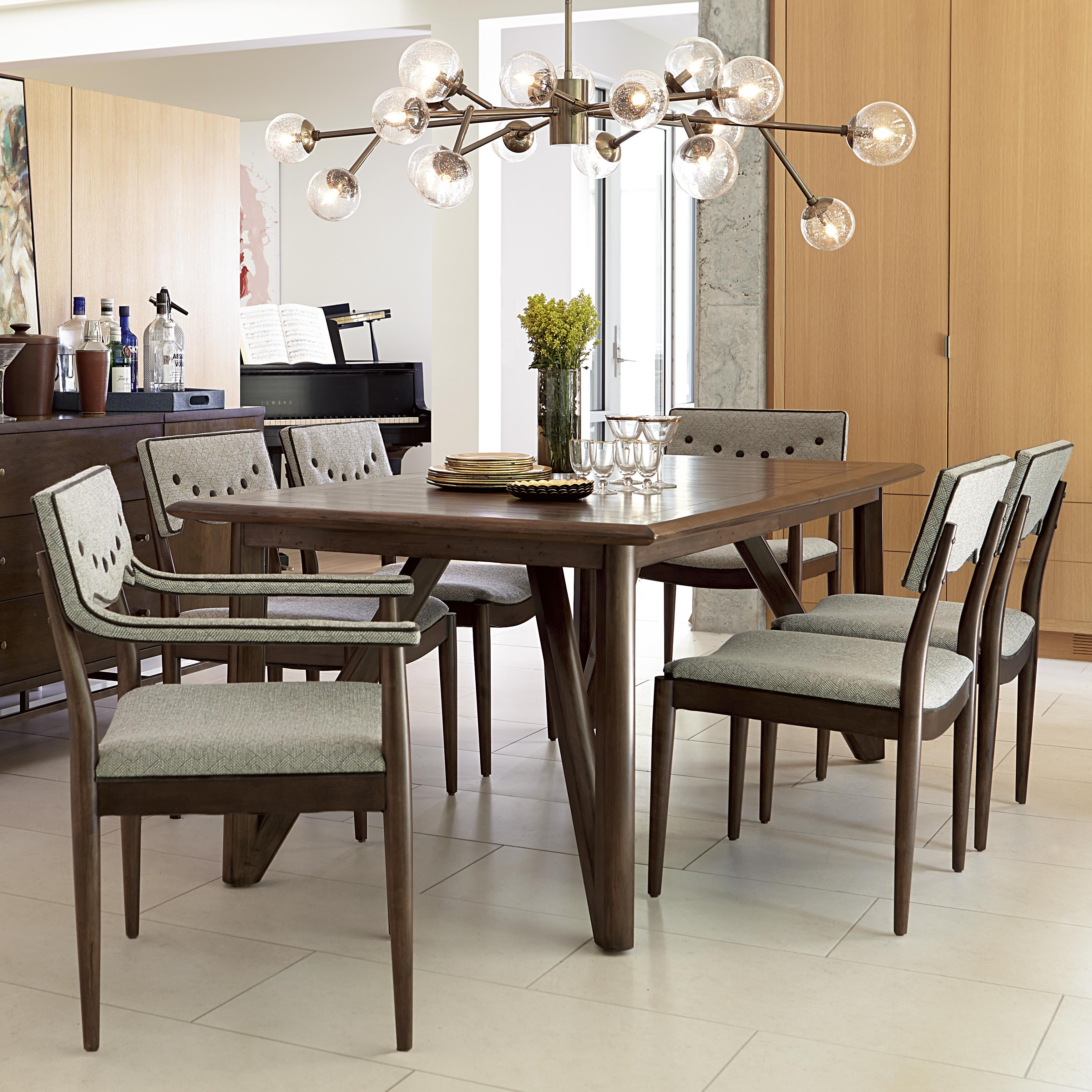 A r t furniture inc epicenters 7 piece silver lake dining for A r t dining room furniture