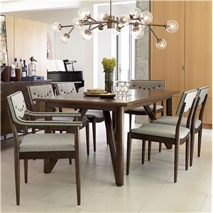 Markor Furniture Epicenters 7-Piece Silver Lake Dining Table Set