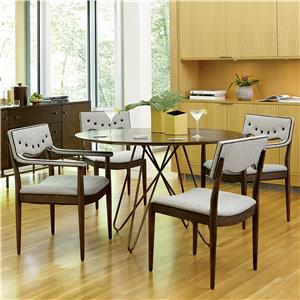 Markor Furniture Epicenters 5-Piece Silver Lake Round Dining Table Set