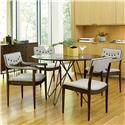 Belfort Signature Urban Treasures 5-Piece 14th and U Round Dining Table Set