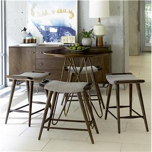 Belfort Signature Urban Treasures 5-Piece 14th and U High Dining Set