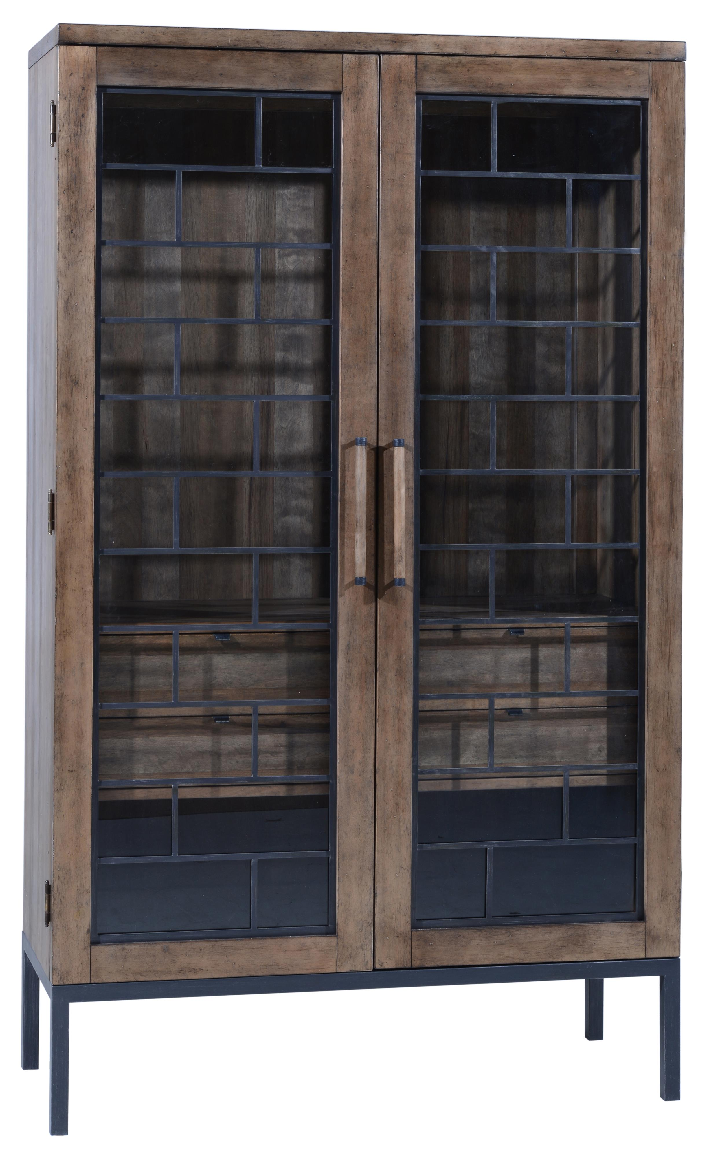 Wood and Metal Shaw Display Cabinet