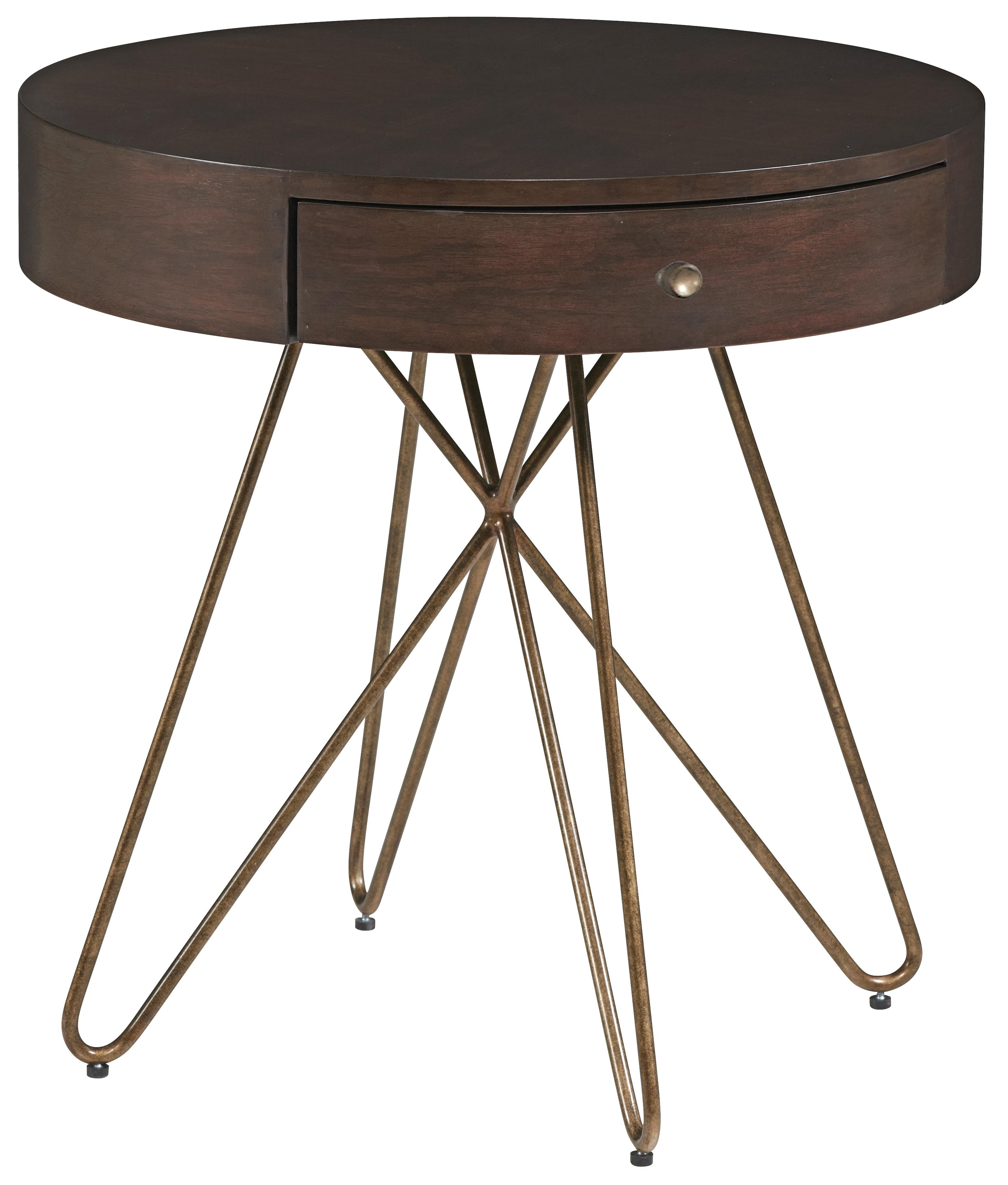 Belfort Signature Urban Treasures 14th and U Round End Table - Item Number: 223306-1812