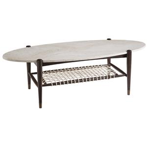 Markor Furniture Epicenters Silver Lake Oval Cocktail Table