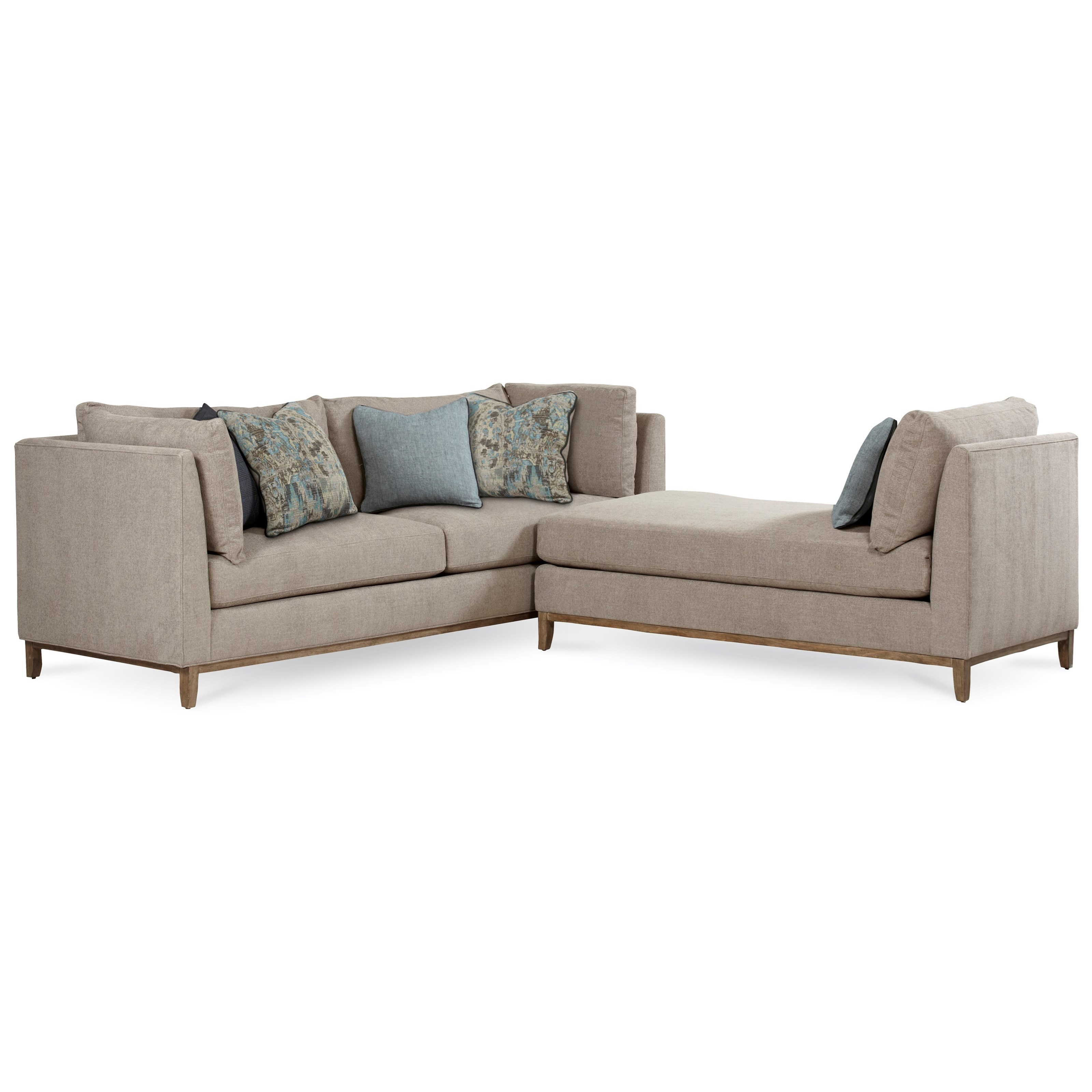Belfort Signature Urban Treasures 2-Piece Modular Chaplin Sectional - Item Number: 523561-5001AA+523565
