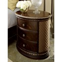 A.R.T. Furniture Inc Gables Oval Nightstand with Quilted Upholstered Panels