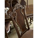 A.R.T. Furniture Inc Gables Traditional Wood Back Side Chair with Splat Back & Upholstered Seat