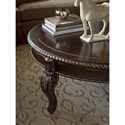 A.R.T. Furniture Inc Gables Traditional Round Cocktail Table with Carved Cabriole Legs