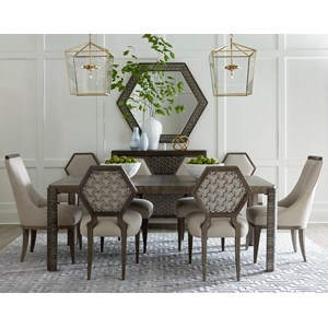 A.R.T. Furniture Inc Geode 7-Piece Ridge Dining Table Set