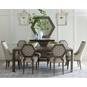 A.R.T. Furniture Inc Geode 7-Piece Ridge Dining Table Set - Item Number: 238220-2303+2x238204+4x238206